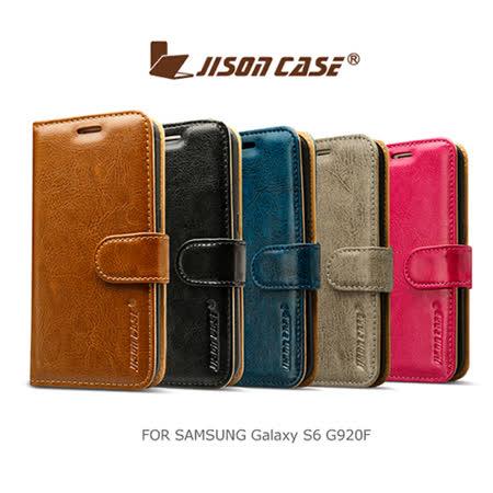 JISONCASE SAMSUNG Galaxy S6 G920F 插卡磁扣皮套