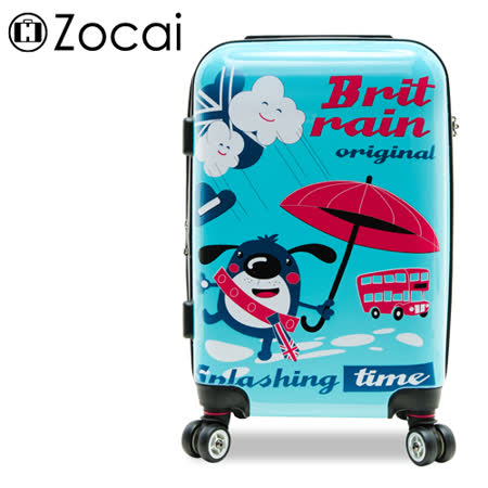 【Zocai佐卡依】英倫時雨 24吋PC超輕量可加大鏡面旅行箱