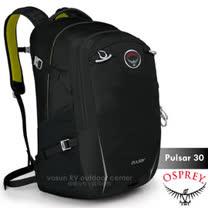 【美國 OSPREY】新款 Pulsar 30L 超輕多功能城市休閒筆電背包(15.4吋+爆音哨+反光標誌)_時尚黑