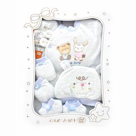 GMP BABY 點線純棉兩用兔裝+帽彌月禮盒1組