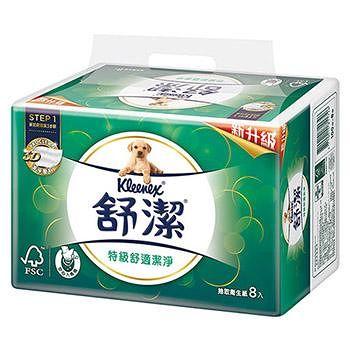 舒潔 特級舒適潔淨抽取衛生紙 (100抽64包/箱)