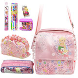 芭比Barbie 滿園花開小側背包文具組