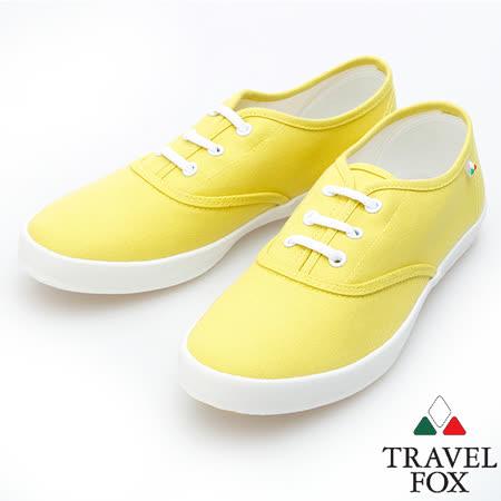 Travel Fox 經典帆布鞋914322(黃-11)