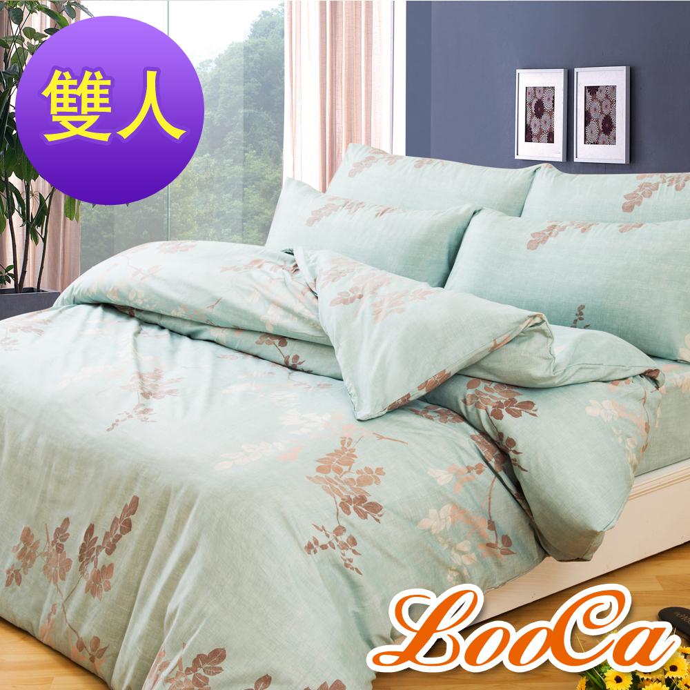 ~LooCa ~湖光耐用柔絲絨雙人四件式被套床包組