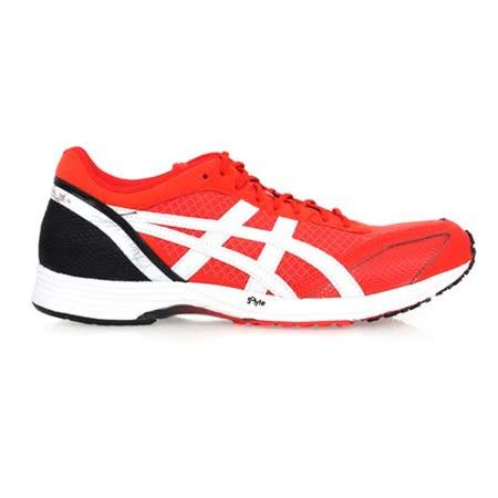 (男) ASICS TARTHERZEAL TS 4 虎走路跑鞋- 慢跑  橘紅黑白