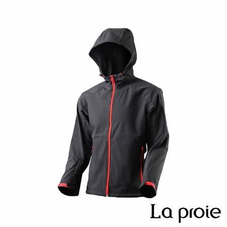 La proie 男 多功能防風防潑軟殼衣(黑色)