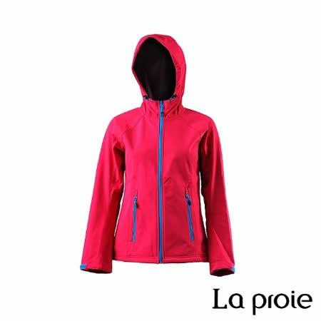 La proie 女 多功能防風防潑軟殼衣(桃紅色)