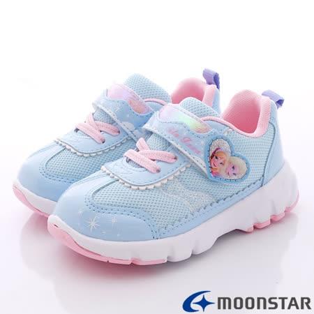 日本Carrot機能童鞋-日本版冰雪奇緣限量款-DN11629藍-(15cm-19cm)