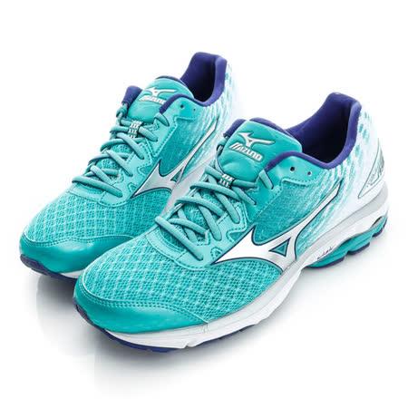 MIZUNO(女)慢跑鞋-藍綠-J1GD160304