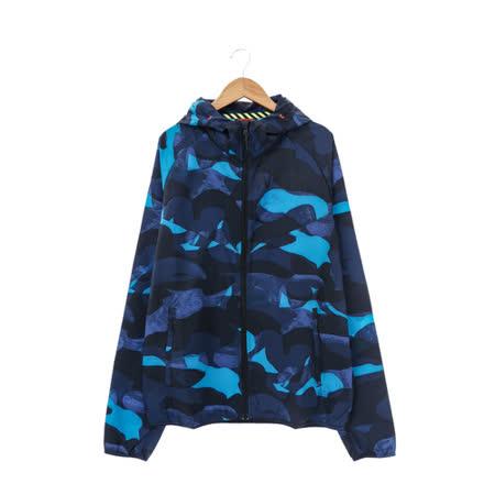 NIKE(男)尼龍防風外套-藍-687594460