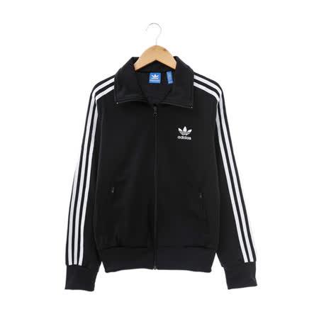 adidas(女)棉質--運動外套(連帽)-黑-AJ8416