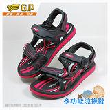【G.P 時尚休閒兩用涼鞋】G6909W-44 亮粉色 (SIZE:35-39 共三色)