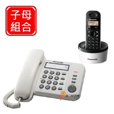 Panasonic 國際牌數位子母機組合 KX-TS520+KX-TG1311 (棉花白)