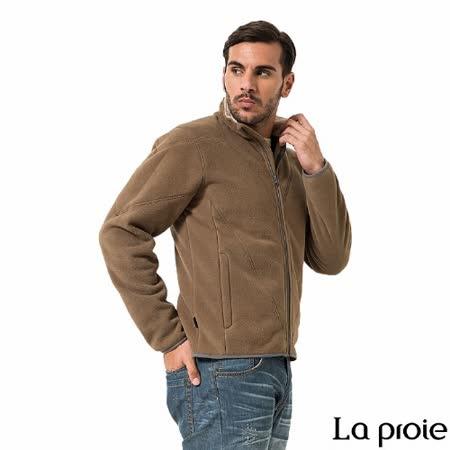 La proie 男 珊瑚絨刷毛外套(棕色)
