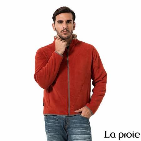 La proie 男 珊瑚絨刷毛外套(深紅)