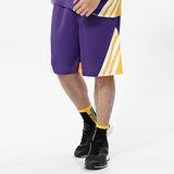 V.TEAM(男)-吸排多色拼接籃球褲-紫