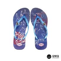 【QWQ】創意設計夾腳拖鞋-Dear Deer-藍(無鑽)