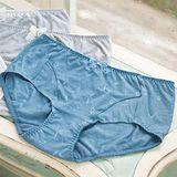 【華歌爾】環保天絲黑竹炭M-LL中低腰平口款(松木藍)
