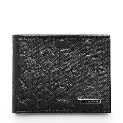 【CK】2016男時尚壓印CK標誌薄型黑色皮夾【預購】
