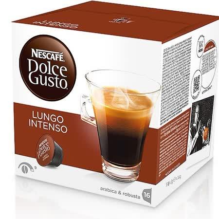 雀巢 美式濃黑濃烈咖啡膠囊(Lungo Intenso)(16顆/盒)