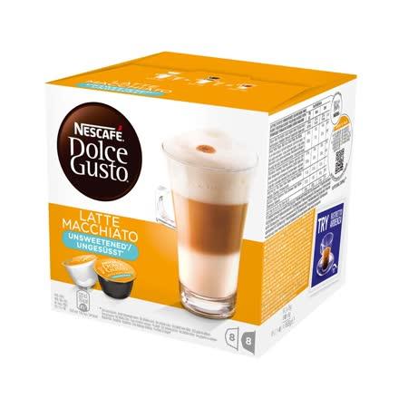 雀巢 無糖拿鐵咖啡膠囊(Latte Macchiato Unsweetened)(16顆/盒)