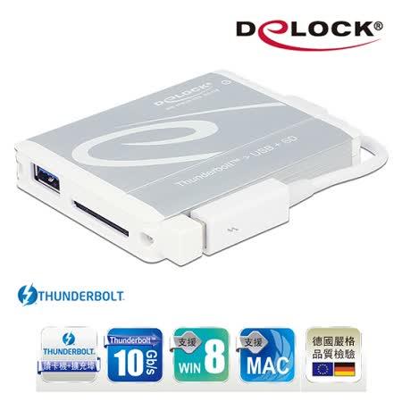 Delock Thunderbolt™ SD 4.0讀卡機+USB 3.0連接器-91723