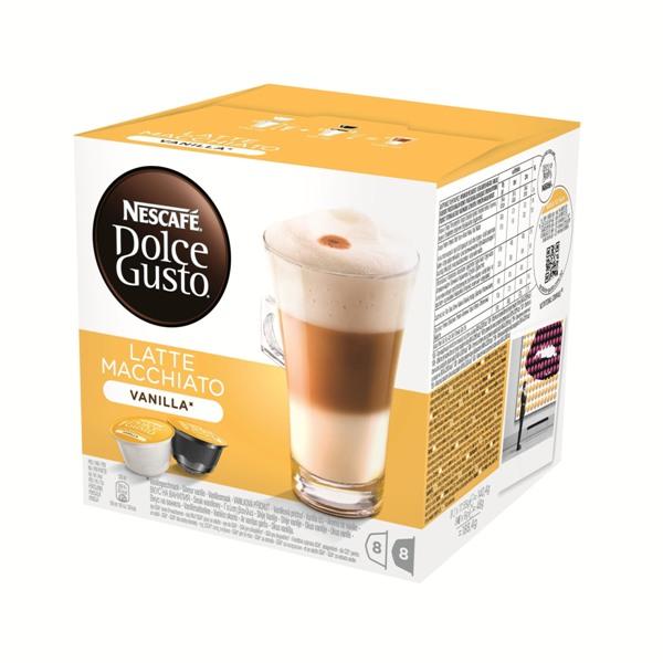 雀巢 香草瑪奇朵咖啡膠囊^(Vanilla Latte Macchiato^)^(16顆盒