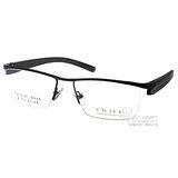 OGA眼鏡 簡約眉框款(黑-灰) #OGA7297O NG021