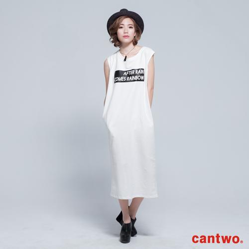 cantwo簡約字母無袖長洋^(共三色^)
