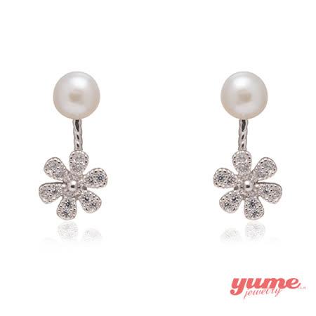 【YUME】小花珍珠二用耳環