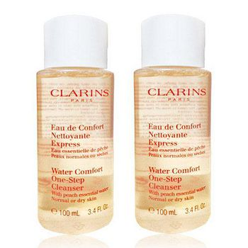 CLARINS 克蘭詩 水蜜桃潔顏水超越正貨容量組 (100ml)X2