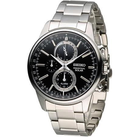 SEIKO SPIRIT 萬年曆多功能計時腕錶 V198-0AC0D SBPJ005J