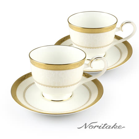 【NORITAKE】華麗年代咖啡杯(金)