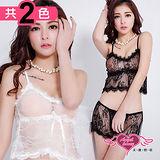 【天使霓裳】睡衣 浪漫渴望 蕾絲二件式情趣內衣(共2色)