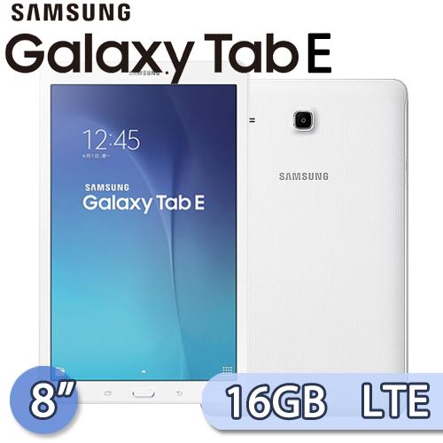 Samsung 三星 GALAXY Tab E 8.0 16GB LTE版 (T3777) 8吋 四核心通話娛樂平板電腦(白)【送16GB記憶卡+保護套】