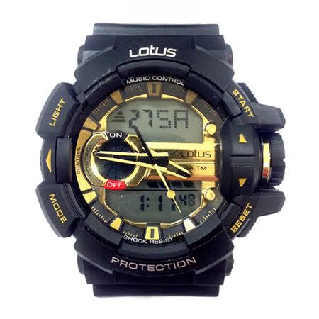 LOTUS 運動時尚潮流電子腕錶-52mm/防水/禮物/G-SHOCK/現貨/LS-1069-18