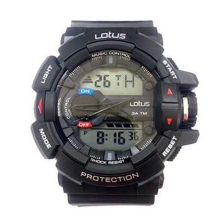 LOTUS 運動時尚潮流電子腕錶-52mm/防水/禮物/G-SHOCK/現貨/LS-1069-01