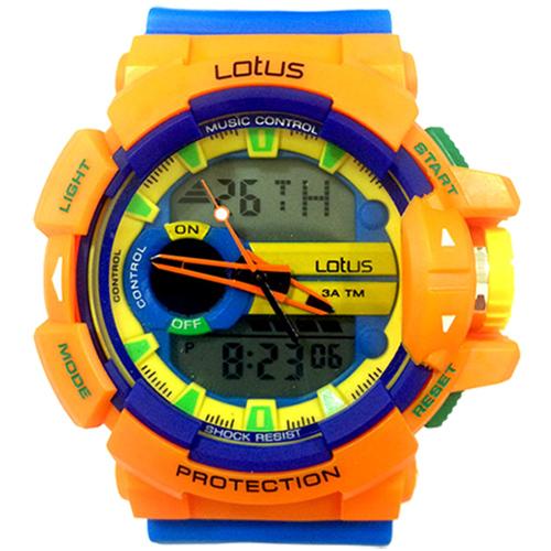 LOTUS 運動時尚潮流電子腕錶-52mm/防水/禮物/G-SHOCK/現貨/LS1069-04