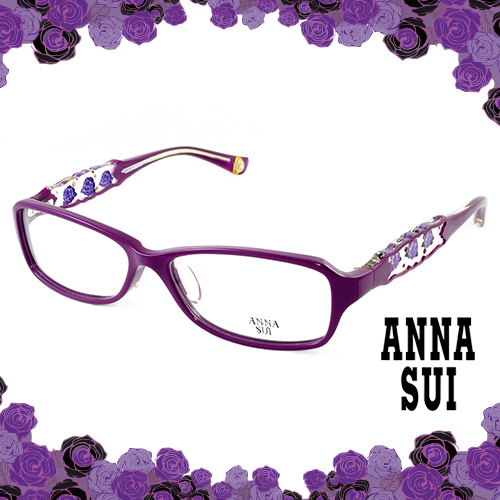 Anna Sui 安娜蘇 紫薔薇祕密花園 眼鏡^(紫色^) AS519~1700