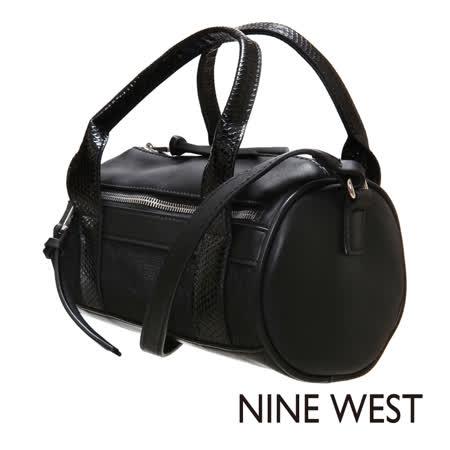 Nine West--圓筒造型小背包--潮流黑