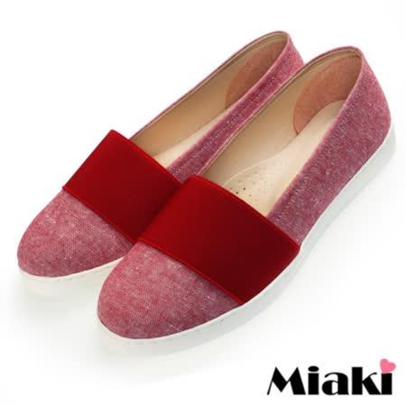 【Miaki】MIT 懶人鞋東大直擊平底休閒包鞋 (紅色)