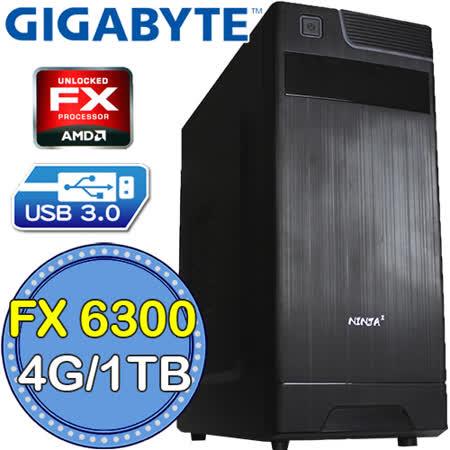 技嘉760平台【無間戰士】AMD FX六核 1TB燒錄電腦