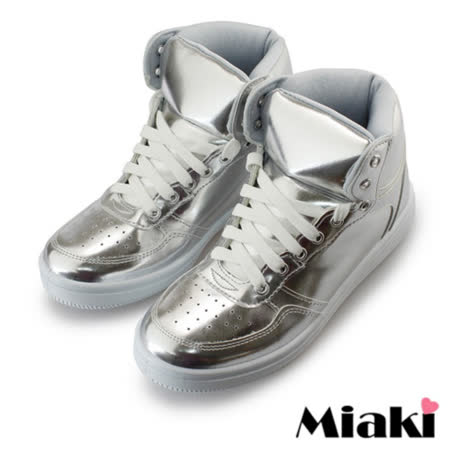 【Miaki】MIT 休閒鞋韓版限定綁帶平底包鞋 (銀色)