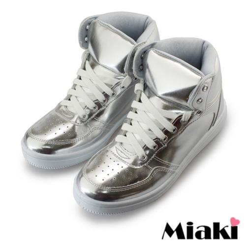 ~Miaki~MIT 休閒鞋 限定綁帶平底包鞋 ^(銀色^)