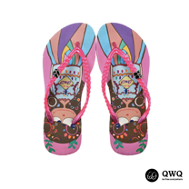 【QWQ】創意設計夾腳拖鞋-樹芽女孩-粉(無鑽)