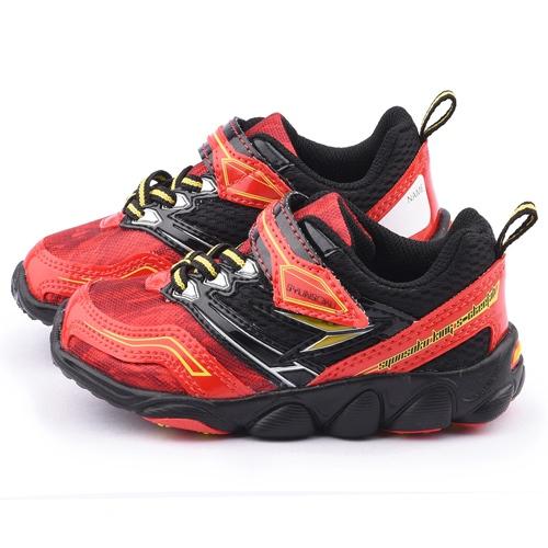 Achilles瞬足 中童 超輕量寬楦運動鞋ESJC1401-紅黑