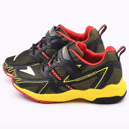 Achilles瞬足 大童 輕量機能運動鞋ESJJ1491-黃黑