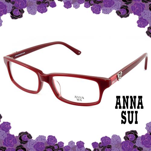 Anna Sui 安娜蘇 薔薇金屬蝴蝶花園 眼鏡^(紅色^) AS521233