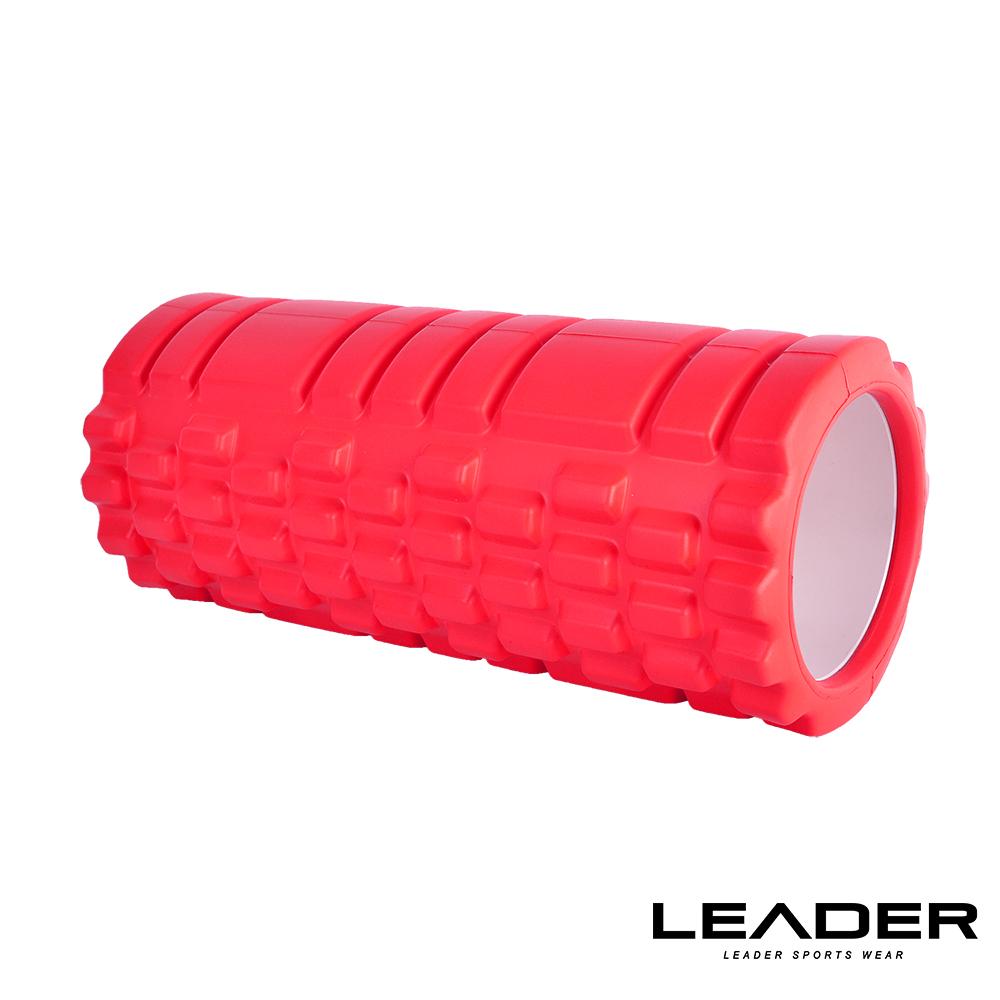 【Lsogo 敦化 館eader X】專業塑身美體瑜珈棒.滾筒.按摩輪(紅色)