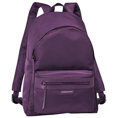 Longchamp Le Pliage Néo厚尼龍後背包_漿果紫